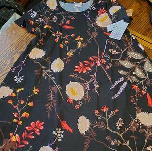 NWT lularoe black floral scuba Jessie size Medium
